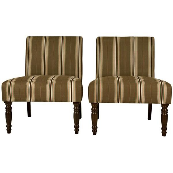 angelo:HOME Bradstreet Modern Autumn Brown Armless Chairs (Set of 2)