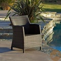 Christopher Knight Home Dawn Outdoor Multi-brown Wicker/Iron Chair (34.75 x 26 x 23.5)