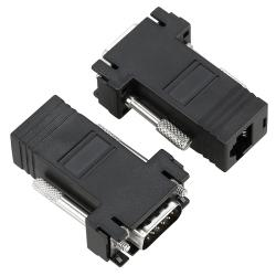 BasAcc Black VGA Extender to RJ45 Adapter (Pack of 2)
