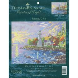 "Thomas Kinkade Serenity Cove Counted Cross Stitch Kit-14""X10"" 14 Count"
