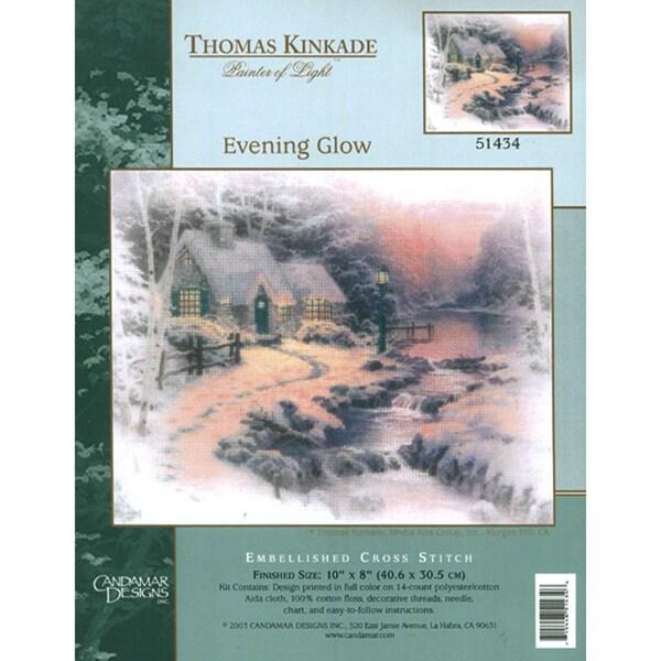 Thomas Kinkade Evening Glow Embellished Cross Stitch Kit