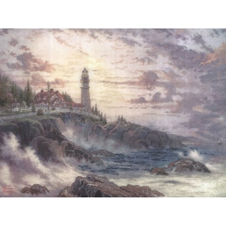 Thomas Kinkade Clearing Storms Embellished Cross Stitch Kit