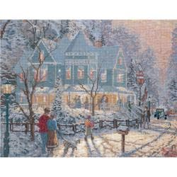 "Thomas Kinkade Holiday Gathering Counted Cross Stitch Kit-14""X11"" 14 Count"