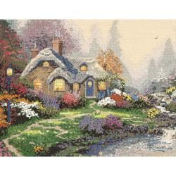 "Thomas Kinkade Everett's Cottage Counted Cross Stitch Kit-14""X11"" 14 Count"