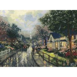 Thomas Kinkade Hometown Memories Counted Cross Stitch Kit