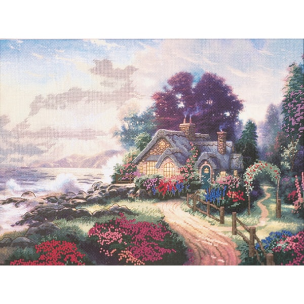 Thomas Kinkade A New Day Dawning Embellished Cross Stitch KiT