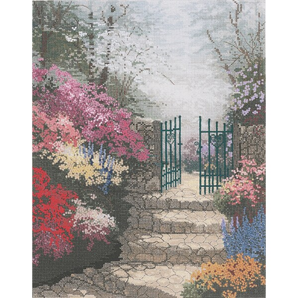 Thomas Kinkade The Garden Of Promise Counted Cross Stitch Kit