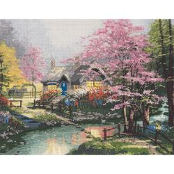 Thomas Kinkade Stepping Stone Cottage Counted Cross Stitch Kit