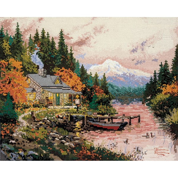 Thomas Kinkade The End Of A Perfect Day Counted Cross Stitch kit
