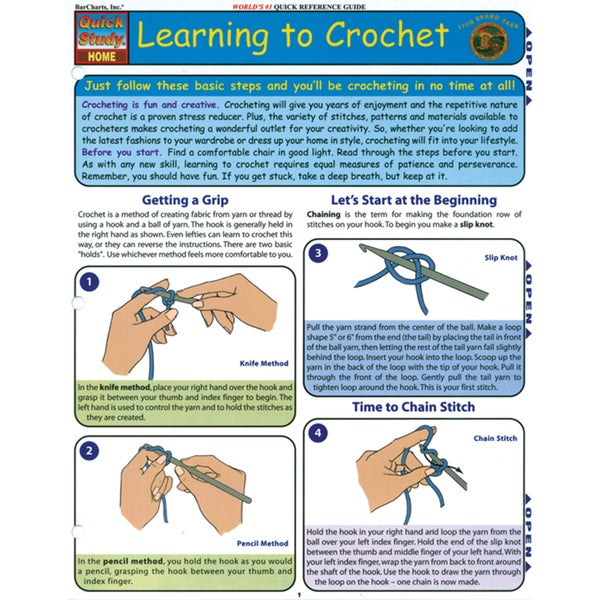 Quick Study Reference Guide-Learning To Crochet
