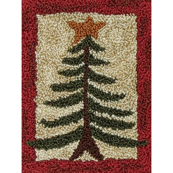 """Pine Tree Punch Needle Kit-2-7/8""""X4in"""