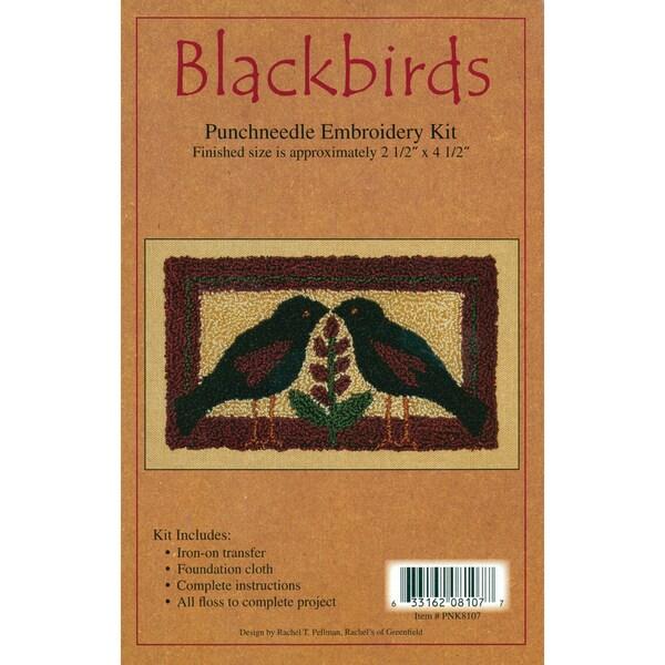 "Blackbirds Punch Needle Kit-2-1/2""X4-1/2in"