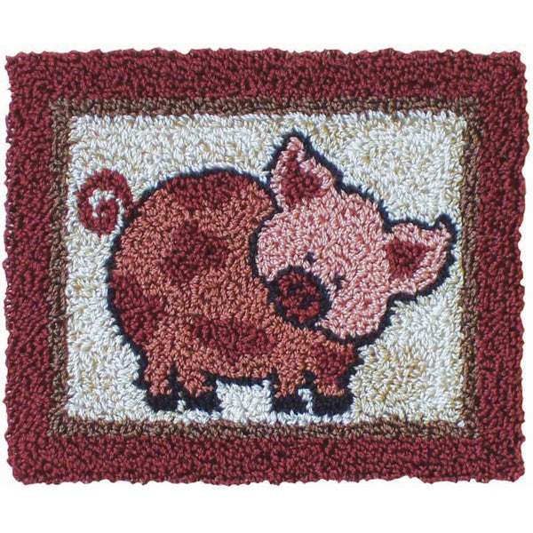 "Pink Pig Punch Needle Kit-3-3/4""X3in"