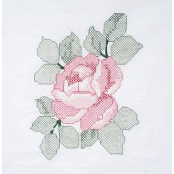 "Stamped Quilt Blocks 18""X18"" 6/Pkg-Red Rose"