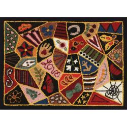 """Heritage Rug Hooking Screen 20""""X27""""-Victorian Patches"""
