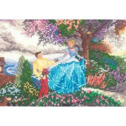 "Disney Dreams Collection By Thomas Kinkade Cinderella-5""X7"" 18 Count"