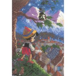 "Disney Dreams Collection By Thomas Kinkade Pinocchio-5""X7"" 18 Count"