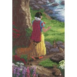 "Disney Dreams Collection By Thomas Kinkade Snow White-5""X7"" 18 Count"