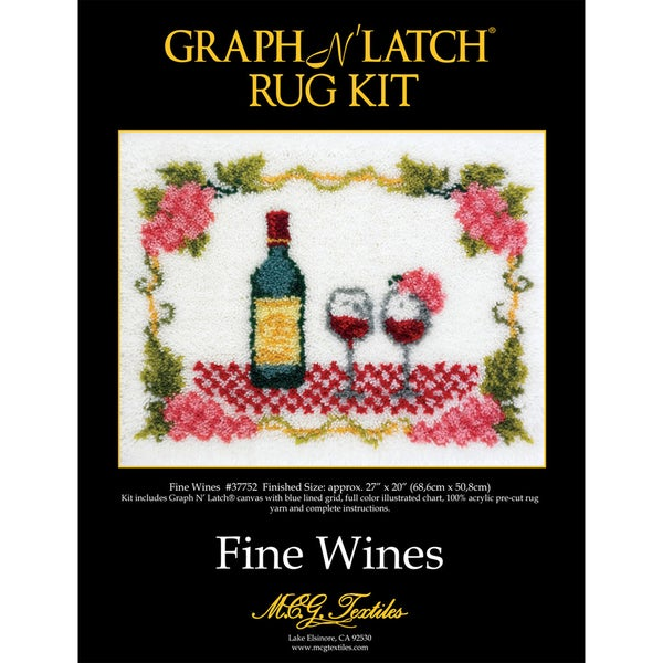 Latch Hook Kit 27 x 20 Fine Wine