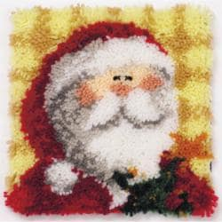 "Latch Hook Kit 12""X12""-Ho Ho Santa Pillow"