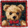 "Latch Hook Kit 12""X12""-Boy Bear Pillow"