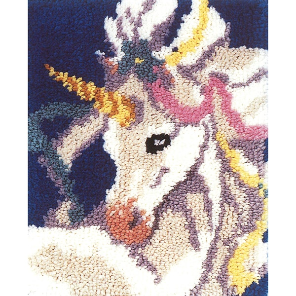 "Latch Hook Kit 15""X18""-Sweet Unicorn"
