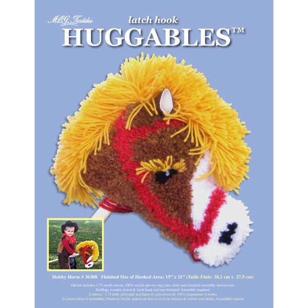 Huggables Hobby Horse Stuffed Toy Latch Hook Kit