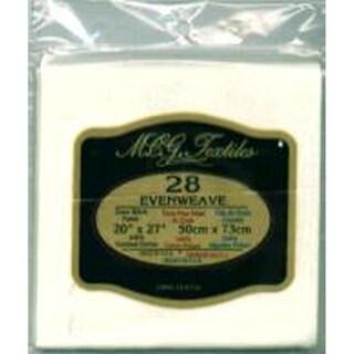 Evenweave 28-count Antique-white Three-ply Yarn Cross-stitch Fabric