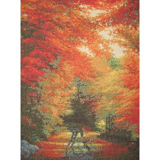 """Autumn In New England Counted Cross Stitch Kit-16""""X12"""" 16 Count"""
