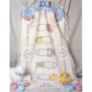 Safety Pins Baby Afghan Counted Cross Stitch Kit