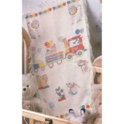 Circus Train Baby Afghan Counted Cross Stitch Kit