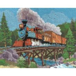 Mountain Steam Horse Needlepoint Kit