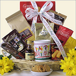 Rise & Shine On Your Birthday:  Gourmet Birthday Gift Basket