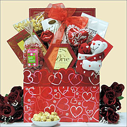 Hugs and Kisses Anniversary Gourmet Gift Basket