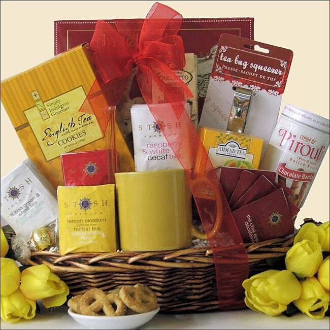 Great Arrivals Tea Treasures Medium Gourmet Gift Basket