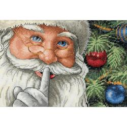 "Gold Collection Petite Santa's Secret Counted Cross Stitch K-7""X5"""