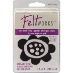 Dimensions Feltworks Learn Needle Felting Kit with Instructions