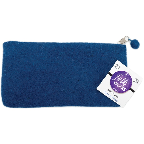 "Feltworks Mini Purse 8-1/4""X4-1/4""X1/2""-Midnight Blue"
