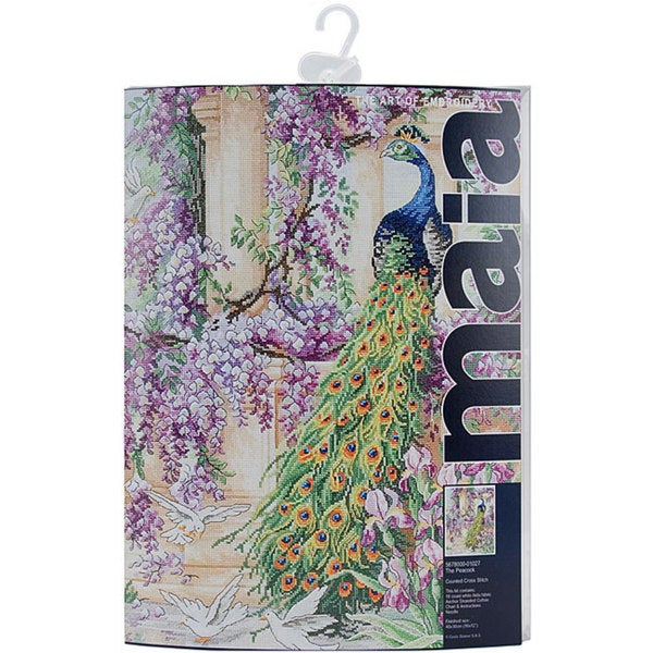 The Peacock Counted Cross Stitch Kit