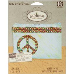 "Handmade Peace Accessory Bag Embroidery Kit-7""X5"""