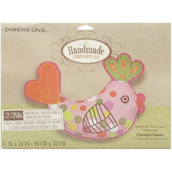 "Handmade Stuffable Bird Embroidery Kit-17""X13"""
