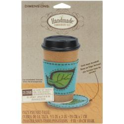 Handmade Leaf Coaster & Coffee Cozy Embroidery Kit-4