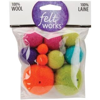 Feltworks Balls-Bright Asst 16/Pkg