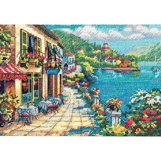 """Gold Collection Petite Overlook Cafe Counted Cross Stitch Kt-7""""X5"""""""