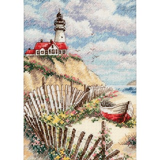"Gold Collection Petite Cliffside Beacon Counted Cross Stitch-5""X7"""