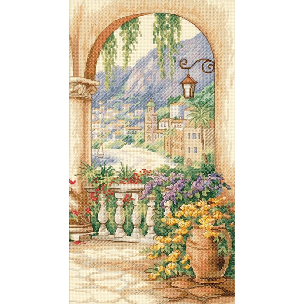 "Terrace Arch Counted Cross Stitch Kit-9""X16"""