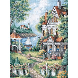 """Gold Collection Cove Haven Inn Counted Cross Stitch Kit-11""""X14"""""""