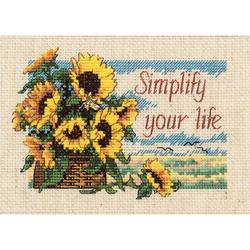 "Jiffy Simplify Your Life Mini Counted Cross Stitch Kit-7""X5"""