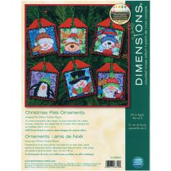 "Christmas Pals Ornaments Counted Cross Stitch Kit-4-1/2"" Tall Set Of Six"