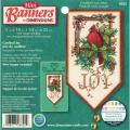 "Banners Cardinal Joy Mini Counted Cross Stitch Kit-10"" Long"